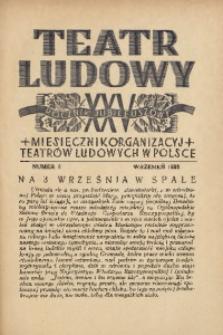 Teatr Ludowy, 1933, R. 25, nr 9