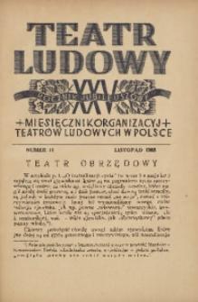 Teatr Ludowy, 1933, R. 25, nr 11