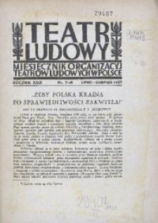 Teatr Ludowy, 1937, R. 29, nr 7/8