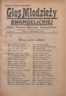 Głos Młodzieży Ewangelickiej, 1935, R. 4, Nr. 8