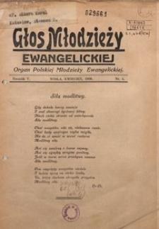 Głos Młodzieży Ewangelickiej, 1936, R. 5, Nr. 4