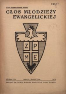 Głos Młodzieży Ewangelickiej, 1939, R. 8, Nr. 3