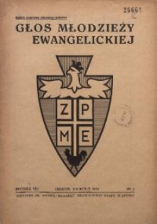 Głos Młodzieży Ewangelickiej, 1939, R. 8, Nr. 4