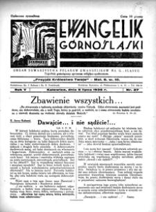 Ewangelik Górnośląski, 1936, R. 5, nr 27