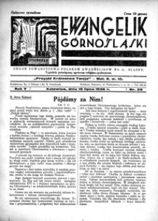 Ewangelik Górnośląski, 1936, R. 5, nr 29