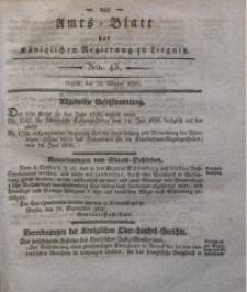 Amts-Blatt der Königlichen Regierung zu Liegnitz, 1836, Jg. 26, No. 43