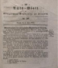 Amts-Blatt der Königlichen Regierung zu Liegnitz, 1837, Jg. 27, No. 26