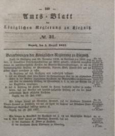 Amts-Blatt der Königlichen Regierung zu Liegnitz, 1837, Jg. 27, No. 31