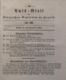 Amts-Blatt der Königlichen Regierung zu Liegnitz, 1837, Jg. 27, No. 39