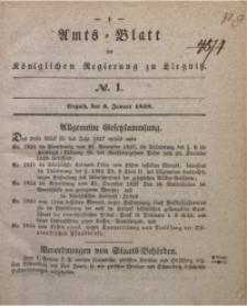 Amts-Blatt der Königlichen Regierung zu Liegnitz, 1838, Jg. 28, No. 1