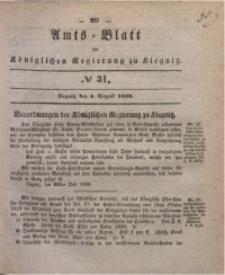 Amts-Blatt der Königlichen Regierung zu Liegnitz, 1838, Jg. 28, No. 31
