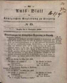 Amts-Blatt der Königlichen Regierung zu Liegnitz, 1838, Jg. 28, No. 35