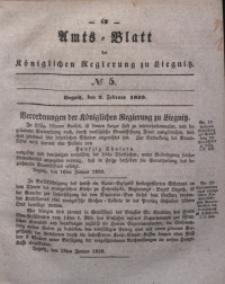 Amts-Blatt der Königlichen Regierung zu Liegnitz, 1839, Jg. 29, No 5