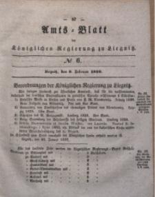 Amts-Blatt der Königlichen Regierung zu Liegnitz, 1839, Jg. 29, No 6