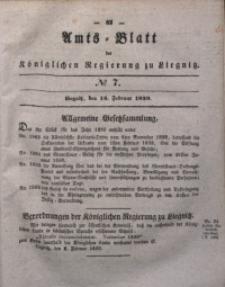 Amts-Blatt der Königlichen Regierung zu Liegnitz, 1839, Jg. 29, No 7