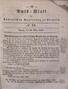 Amts-Blatt der Königlichen Regierung zu Liegnitz, 1839, Jg. 29, No 13