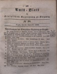 Amts-Blatt der Königlichen Regierung zu Liegnitz, 1839, Jg. 29, No 38