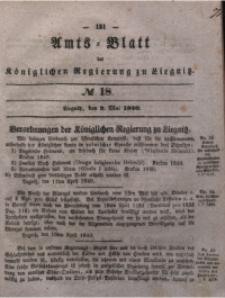Amts-Blatt der Königlichen Regierung zu Liegnitz, 1840, Jg. 30, No 18