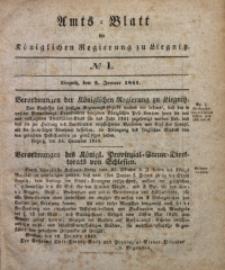 Amts-Blatt der Königlichen Regierung zu Liegnitz, 1841, Jg. 31, No 1