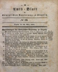 Amts-Blatt der Königlichen Regierung zu Liegnitz, 1841, Jg. 31, No 12