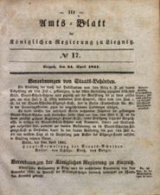Amts-Blatt der Königlichen Regierung zu Liegnitz, 1841, Jg. 31, No 17