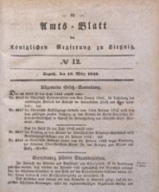 Amts-Blatt der Königlichen Regierung zu Liegnitz, 1842, Jg. 32, No 12