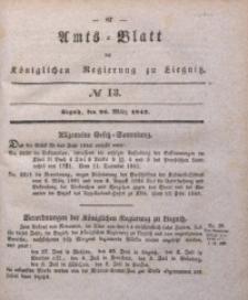 Amts-Blatt der Königlichen Regierung zu Liegnitz, 1842, Jg. 32, No 13