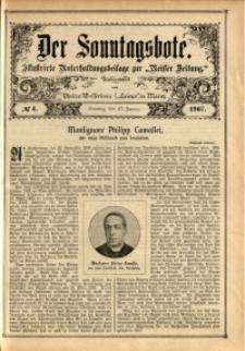 Der Sonntagsbote, 1907, No. 4