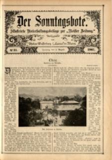 Der Sonntagsbote, 1907, No. 31