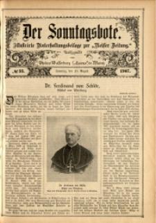 Der Sonntagsbote, 1907, No. 33