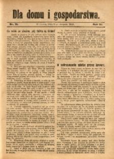Dla Domu i Gospodarstwa, 1913, R. 3, Nr. 31