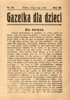 Gazetka dla Dzieci, 1913, R. 3, Nr. 19