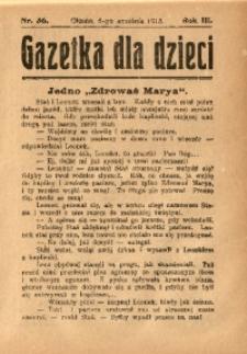 Gazetka dla Dzieci, 1913, R. 3, Nr. 36