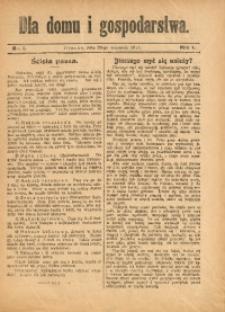 Dla Domu i Gospodarstwa, 1911, R. 1, Nr. 1