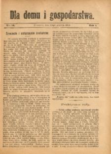 Dla Domu i Gospodarstwa, 1911, R. 1, Nr. 14