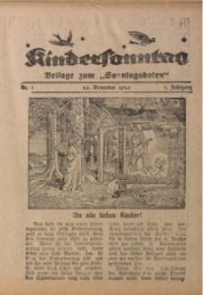 Kindersonntag, 1926, Jg. 1, Nr. 1