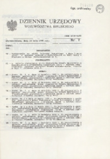 Dziennik Urzędowy Województwa Bielskiego, 1995, nr 7