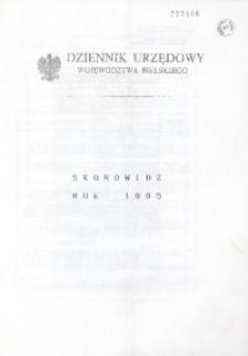 Dziennik Urzędowy Województwa Bielskiego. Skorowidz Rok 1995