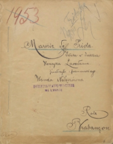 Markiz de Priola. Sztuka w 3 aktach. Role teatralne