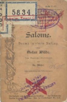 Salome : Drama in einem Aufzug