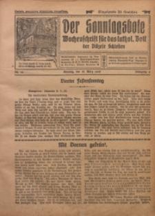Der Sonntagsbote. Wochenschrift für das katholische Volk der Diözese Schlesien, 1928, Jg. 4, Nr. 12