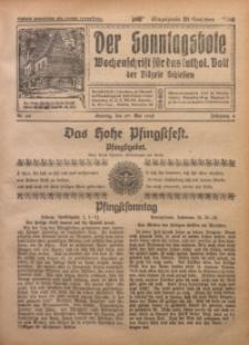Der Sonntagsbote. Wochenschrift für das katholische Volk der Diözese Schlesien, 1928, Jg. 4, Nr. 22