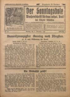 Der Sonntagsbote. Wochenschrift für das katholische Volk der Diözese Schlesien, 1928, Jg. 4, Nr. 46