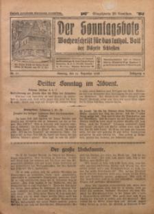 Der Sonntagsbote. Wochenschrift für das katholische Volk der Diözese Schlesien, 1928, Jg. 4, Nr. 51