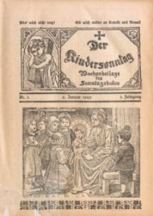 Der Kindersonntag, 1929, Jg. 3, Nr. 1