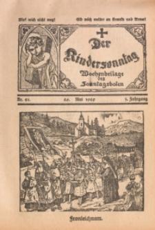 Der Kindersonntag, 1929, Jg. 3, Nr. 21