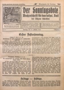 Der Sonntagsbote. Wochenschrift für das katholische Volk der Diözese Schlesien, 1929, Jg. 5, Nr. 7