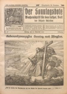 Der Sonntagsbote. Wochenschrift für das katholische Volk der Diözese Schlesien, 1929, Jg. 5, Nr. 47