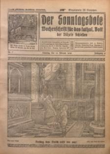 Der Sonntagsbote. Wochenschrift für das katholische Volk der Diözese Schlesien, 1930, Jg. 6, Nr. 7
