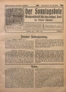 Der Sonntagsbote. Wochenschrift für das katholische Volk der Diözese Schlesien, 1930, Jg. 6, Nr. 11